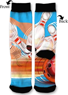 Bowling Ball Transparent Shining Unisex Printing Seafarer Socks Deluxe Personality Short Sock 40CM