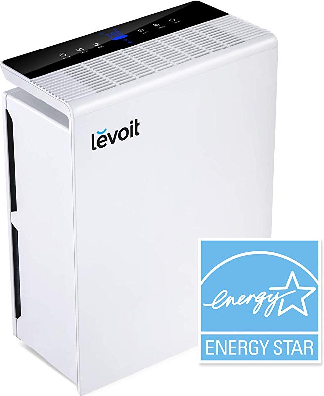 LEVOIT Air Purifier For Home Large Room With True HEPA Filter Air Cleaner For Allergies And Pets Smokers Mold Pollen Dust Quiet Odor Eliminators For Bedroom Energy Star Smart Sensor LV PUR131