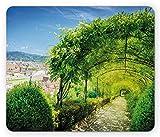 Alfombrilla Italiana, Jardines de Boboli en Florencia Italia Lugar Famoso Lugar de interés Natural Atracción turística, Alfombrilla de ratón, Verde Azul