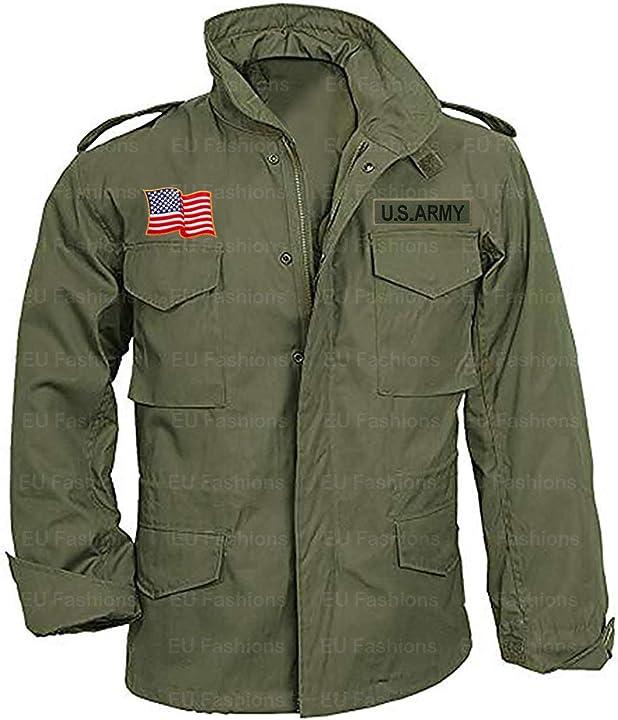 Giacca john rambo vietnam m65 militare us army verde oliva giacca di cotone eu fashions B08HJDMSFM