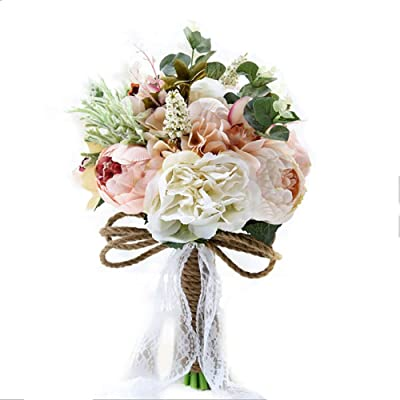 BNSDGS Recuerdos de la Boda del Partido de Compromiso Ramillete de Flores ensayo de la Boda de Lujo Europea Nupcial Ramo de peonía Flor de la simulación de los Padrinos de Boda Arreglos Florales