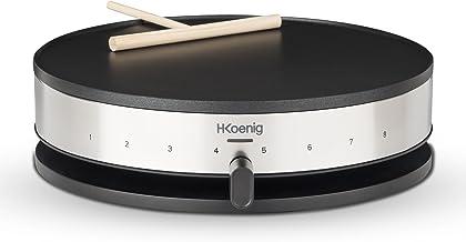 H.Koenig KREP29 Crêpière électrique Appareil à Crêpes Inox, Crêpes Maker, Crêpes Party, Plaque de Cuisson Antiadhésive 33 ...