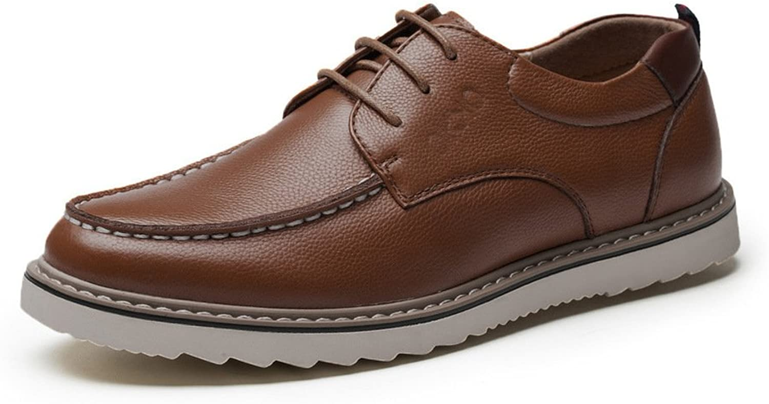 MET RXL Autumn and Winter Mens Casual shoes Low Cut shoes England-Style Leather shoes