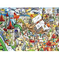 Minisan パズル 1000ピース ジグソーパズル 遊園地 木製パズル 風景 知育 puzzle (38 x 52 cm)
