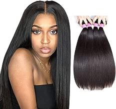 Original Queen 8A Grade Brazilian Straight 4 bundles Deal Silky Straight Virgin Human Hair Weave Extension Mixed Lengths Natural Color 16 18 20 22 Inches
