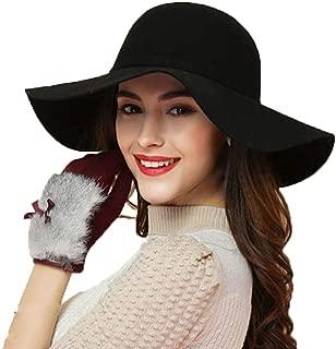 black velvet floppy hat