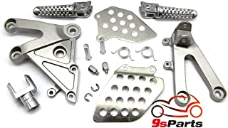 9sparts OEM Replacement Passenger Front Foot Rest Pegs Bracket Rearsets for 2003 2004 2005 2006 HONDA CBR 600RR CBR-600RR CBR 600 RR (SILVER)