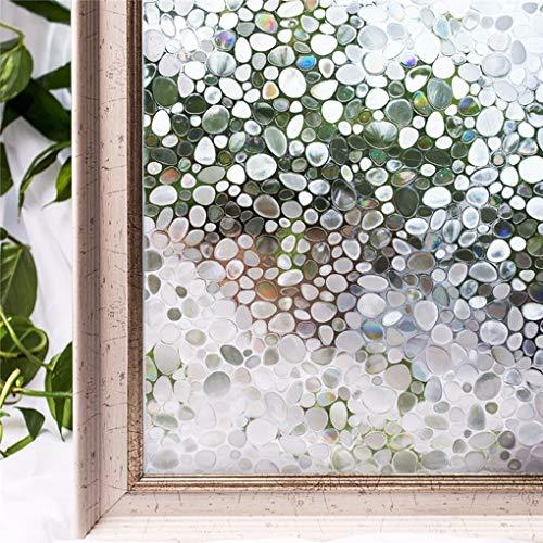SHJMANPA Dekorativ Privacy Window Film White Frosted Dekorativer Fensteraufkleber Nicht Klebend Klebstoff Statisch Haftende Glasfolie Anti-uv einzigartig, 90 * 100cm