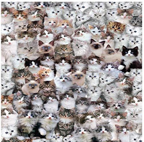 1000 piezas Cute Cat Jigsaw Marine Wildlife Cat Puzzle educativo para niños Gif navideño