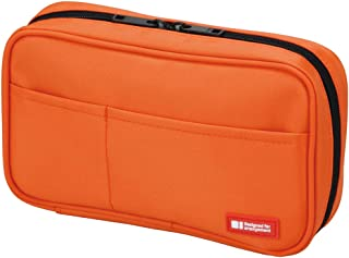 LIHIT LAB Pen Case, 7.9 x 2 x 4.7 inches, Orange (A7551-4)