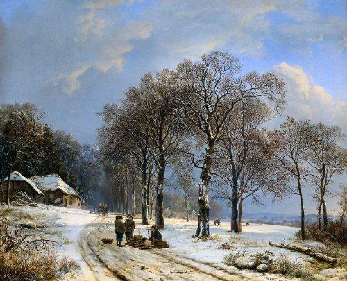 498 Winterlandschaft Barend Cornelis Koekkoek Bild Kunstdruck