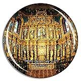 Weekino Saint-Jean-de-Luz Francia Eglise Saint-Jean-Baptiste Imán de Nevera 3D de Cristal de la Ciudad de Viaje Recuerdo Colección de Regalo Fuerte Etiqueta Engomada refrigerador