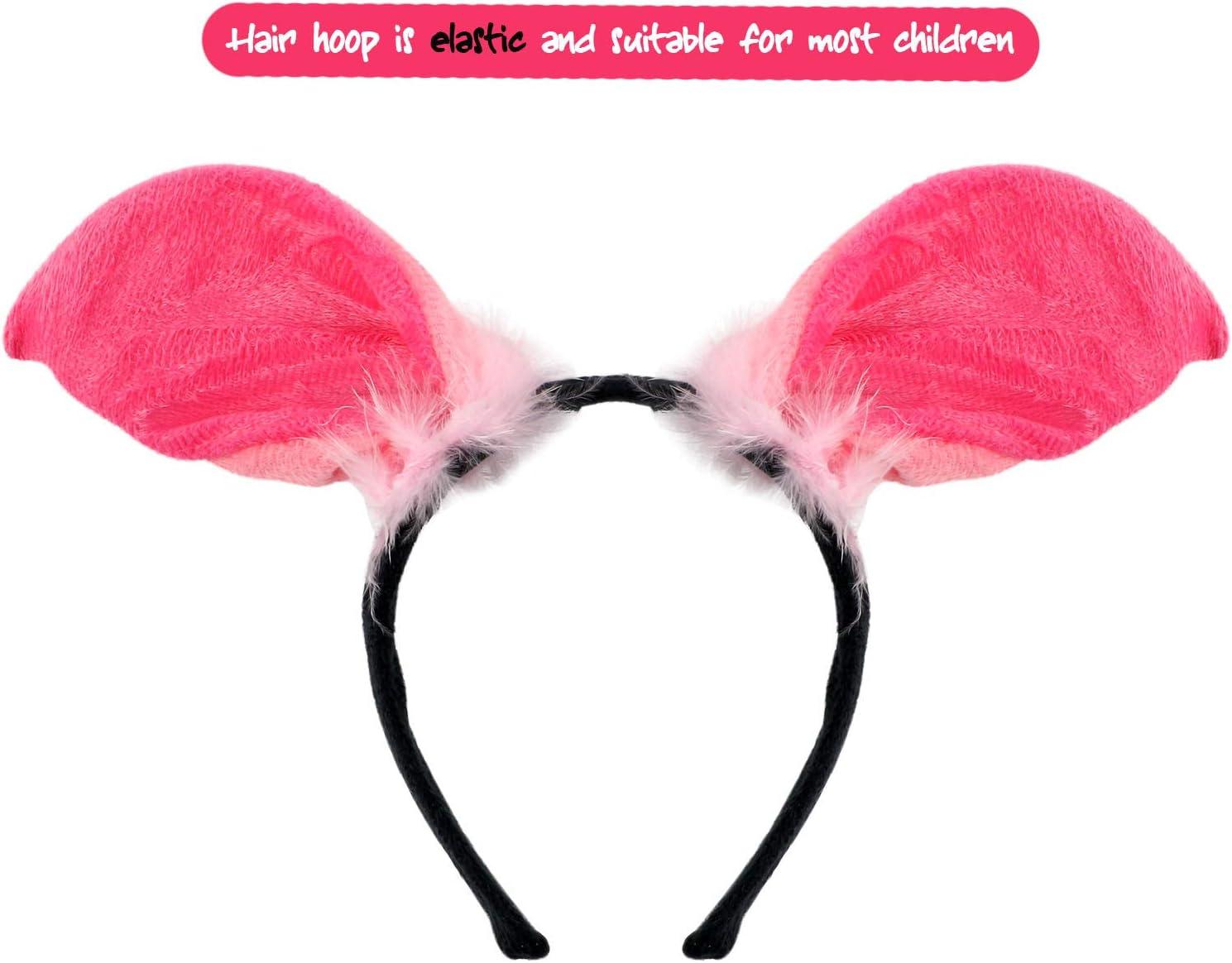 pig VAMEI Costume per bambini Set Fascia per animale Tut/ù Gonna Bowtie Tail Fascia per capelli con orecchie Carnevale Costume Halloween Party Travestimento Animale Cosplay Abiti Tulle