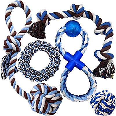 Otterly Pets Puppy Dog Pet Rope Toys - Medium to Large Dogs (5-Pack)