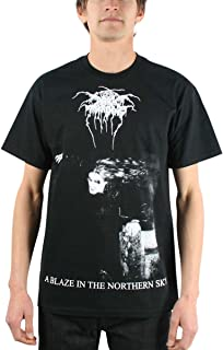 Mens A Blaze in the Northern Sky T-shirt in Black
