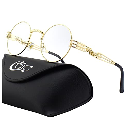 40a39f3874 CGID E72 Retro Steampunk Style Unisex Inspired Round Metal Circle Polarized Sunglasses  for Men and Women
