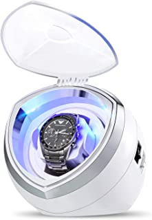 HiPai Single Automatic Watch Winder with Quiet Motor, 4 Rotation Mode Settings, Suitable for Men's and Ladies Wrist Watch