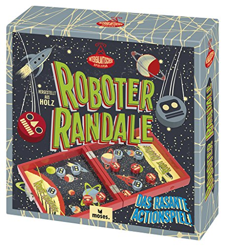 moses. Roboter Randale Professor Puzzle , Das rasante Actionspiel aus Holz , Für 2 Spieler ab 6 Jahren