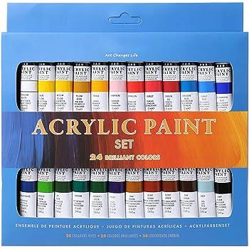 S-Trouble - Juego de 24 pinturas acrílicas de 12 ml para dibujar ...