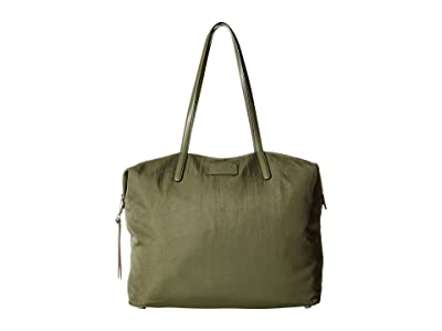 Rebecca Minkoff Washed Nylon Tote (Olive) Tote Handbags