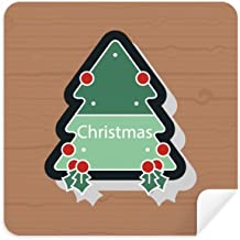 DIYthinker Christmas Cartoon Icon Christmas Tree Glasses Cleaning Cloth Phone Screen Cleaner Suede Fabric 2Pcs