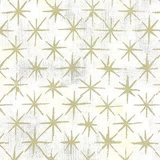 Grunge Seeing Stars Metallic/Vanilla White Red Cotton Fabric by Moda