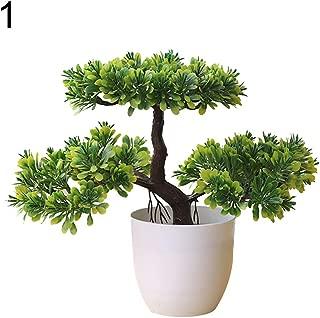 BLagenertJ Artificial Plastic Plant Fake Tree Bonsai Home Hotel Garden Shop Potted Ornament Props - 1#