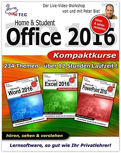 Office 2016 Home Student - Video Training - 3 Praxiskurse auf DVD [Interactive DVD]