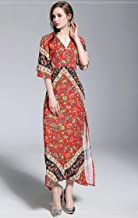Y&D SUMMER CASUAL DRESS RED -L