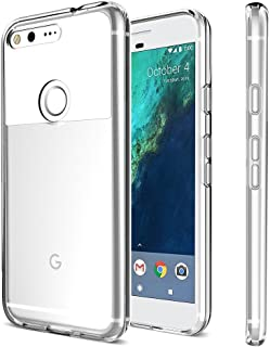 XDesign Google Pixel Case, [XClear] Protective Clear Bumper for Google Pixel (2016) [Scratch Resistant] Integrated Shock-Absorbing Bumper Cover Hard Back Panel - [All Clear]