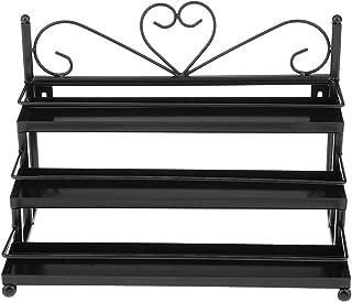 Segolike 3 Tiers Metal Heart Design Nail Polish Organizer Shelf Rack Table Top/ Wall Mount Display Rack Stand Fit 36 Bottles - Choose Shades - black