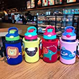 Cup Xiaoliangzi Plastic Cup Cartoon Child Straw Water Cup Student Duckbill Pot Creative Easy Cup
