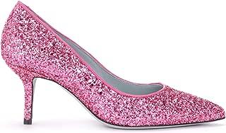 Chiara Ferragni Collection Woman's Cleavage Shoe Chiara Ferragni with A Completely Glittery Fuchsia Upper