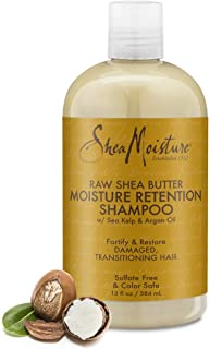 SheaMoisture Moisture Retention Shampoo for Dry, Damaged or Transitioning Hair Raw Shea..