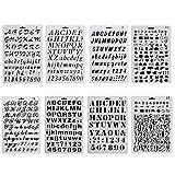 ccmart plástico Bullet diario plantilla para juego de 8con letras número alfabeto símbolo...