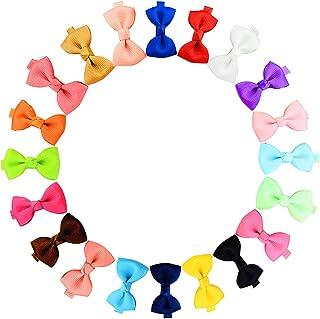 Pequeño pelo arco grosgrain cinta pinzas para el pelo pinzas de cocodrilo para niñas bebés niños pequeños 20pcs