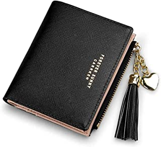Wallets For Women Credit Card Holder Slim Coin Purse Thin Large Capacity Zip Clutch Cute Minimalist Leather Cell Phone Cas...