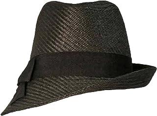 a5823e76e820a Luxury Divas Black Fedora Hat With Slanted Brim