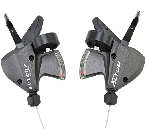 Shimano Altus SL-M370 9 Speed Shifter Trigger Set 3X9 w//inner Cable