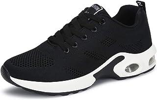 fcc24fadd0274 Basket Sneakers Femme pour Running Chaussures de Course Lacets Air Coussin  4cm Noir Rouge Rose Violet