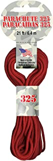 featured product Pepperell Parachute Cord, 3mm/ 21-Feet, Red