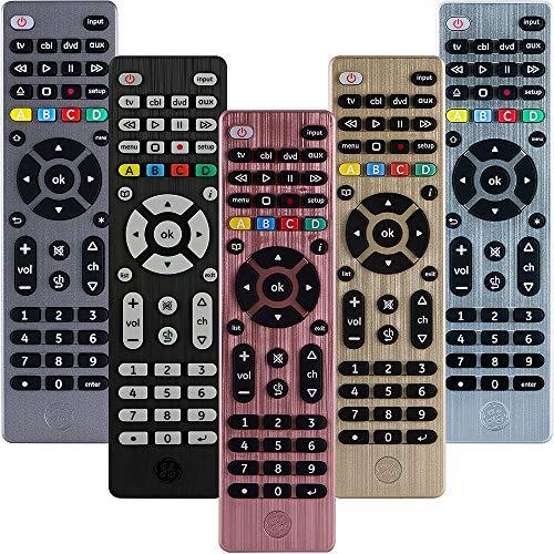 GE Universal Remote Control for Samsung, Vizio, LG, Sony, TCL, Roku, Apple TV, TCL, Panasonic, Smart TVs, Streaming Players, Blu-ray, DVD, 4-Device, Rose, 32934