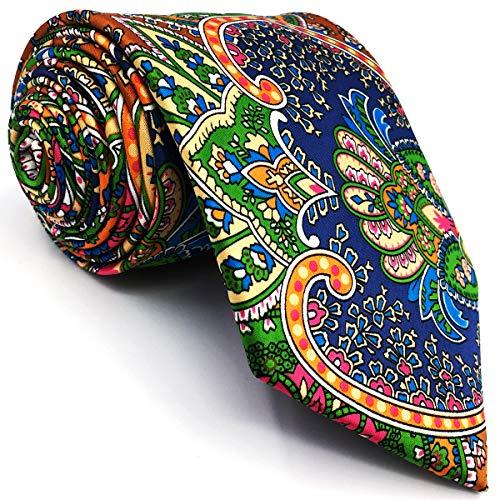 shlax&wing La Moda Hombre Boda Seda Corbatas Para Multicolor Geométrico Floral Extra Largo 160cm