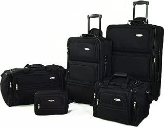 5 Piece Nested Luggage Set, Black