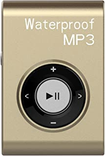 Travel Mini Mp3 Music Player FM Radio Waterproof USB Power with Clip 8GB - Gold