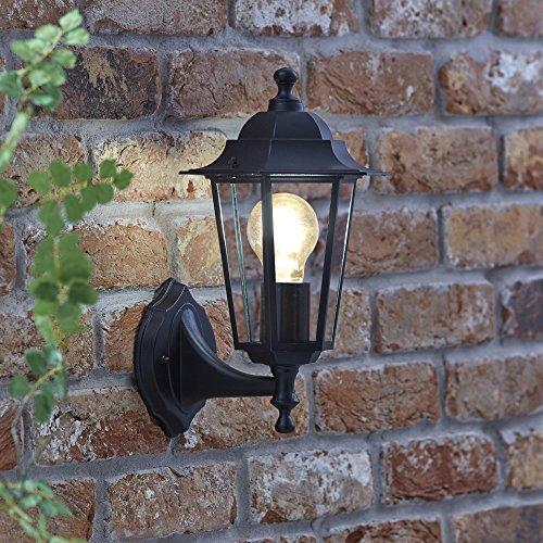 Biard Applique Murale Lanterne Noire LED Éclairage Ampoule E27 - Vintage Éxtérieur - Gamme Toulon
