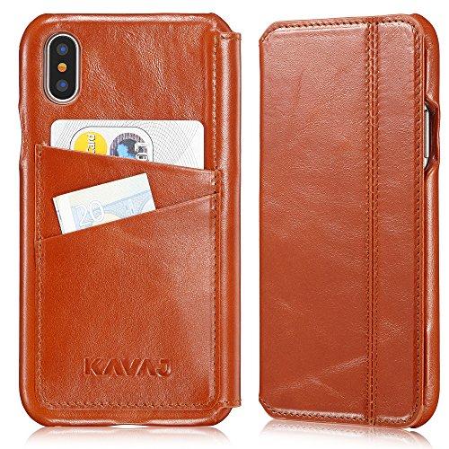 Funda iPhone X Case KAVAJ Dallas marrón...
