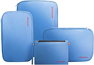BeeNesting Waterproof Compression Packing Cubes Packing organizers 4 sets for travel carry on Group4, Light blue)