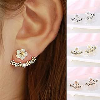 Naomi Women Fashion Accessories Crystal Stud Earrings Boucle d'oreille Femme Flower Earrings Gold Bijoux Jewelry Silver
