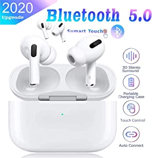 Wireless Bluetooth 5.0 Earbuds, TWS Portable Touch Control Wireless Earphones Hands Free Mini Noise Cancelling in-Ear Headphones with Mic and Charging Case for iPhone Android Samsung
